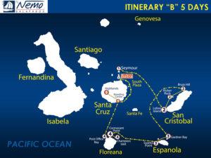 itinerary-B-5-days-nemo-iii-galapagos-cruise